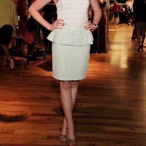 Zara mint green peplum skirt